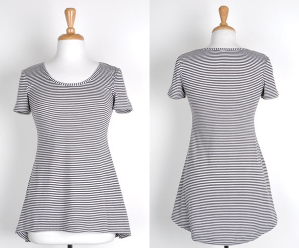 3 - tee sleave slouch top
